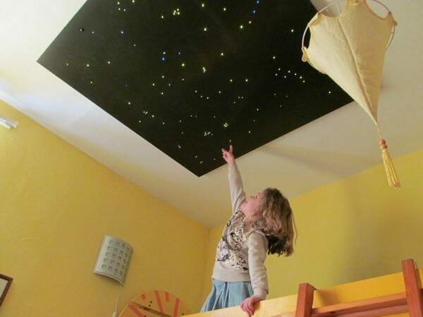 Star ceiling in a nursery