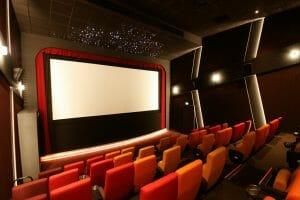 A star ceiling of 30 pre-fibred fibre optic tiles at the Parade Cinema